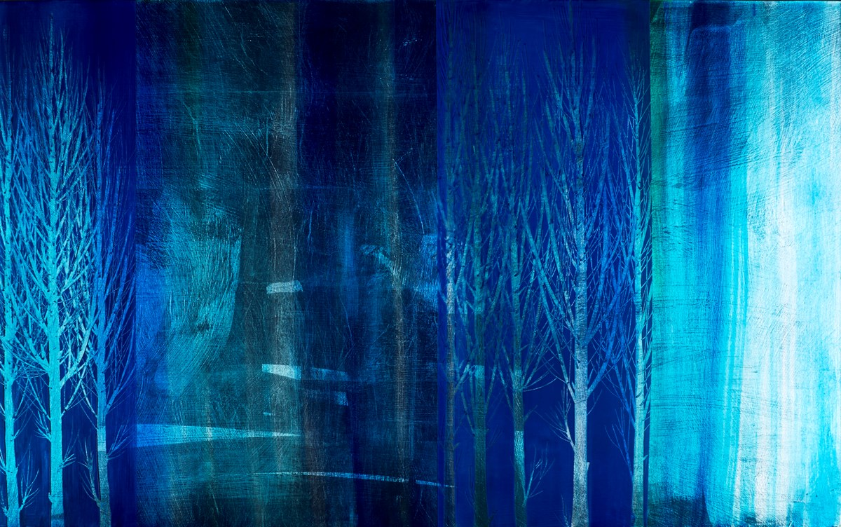 Blue Night I by nakisa seika -  sized 48x30 inches. Available from Whitewall Galleries